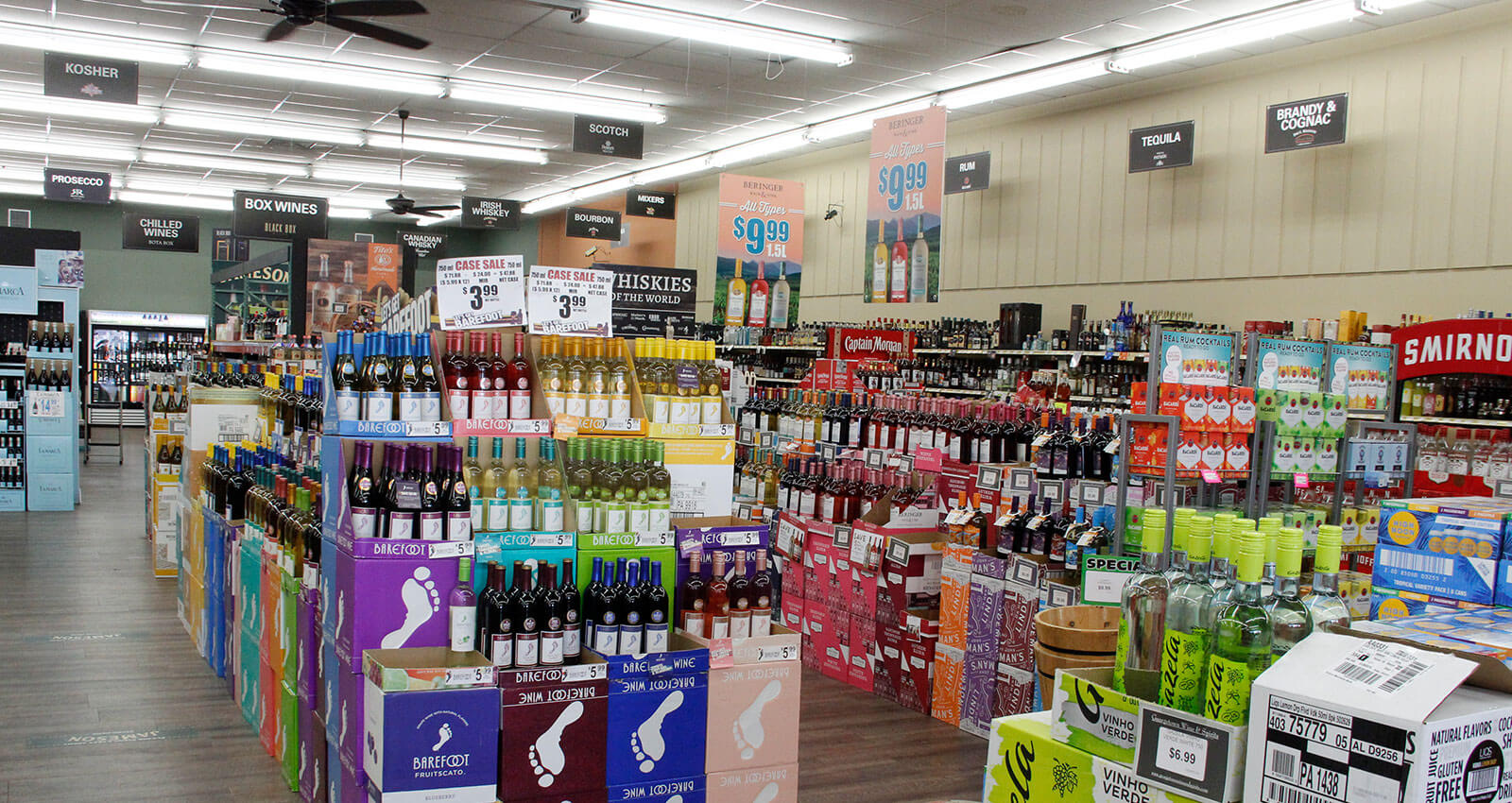 Barefoot Wines and other liquor offerings