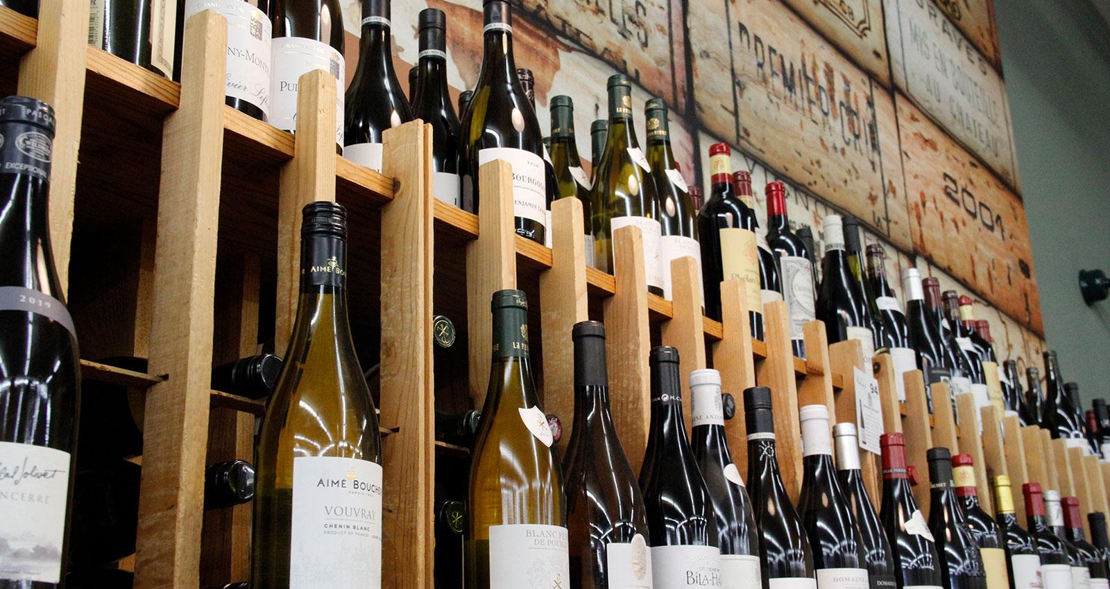 Wine Wall Close Up